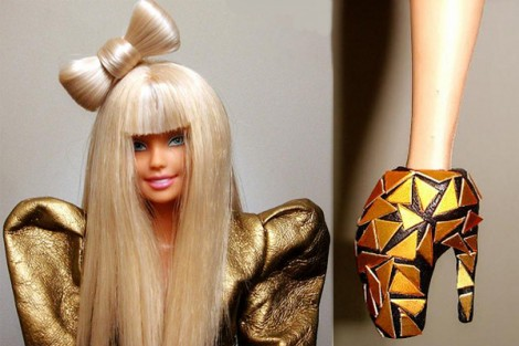 Lady Gaga Barbie Alexander McQueen outfit