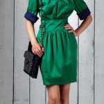 Love Moschino 2011 groen zomerkleedje