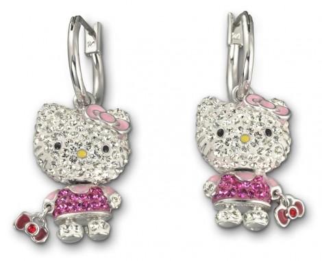Hello Kitty Swarovski oorbellen