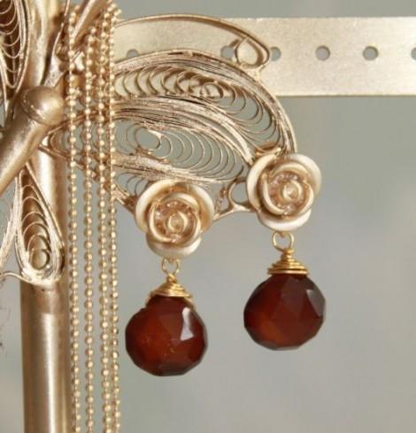 Handgemaakte juwelen chalcedoon