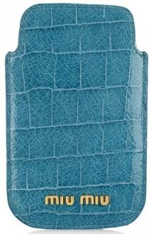 iPhone Sleeve Miu Miu Blauw